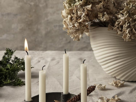 Minimalistic decor for Christmas with Scandi vibes
