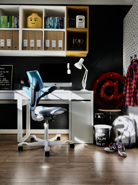A home office for a pre-teen or teenager