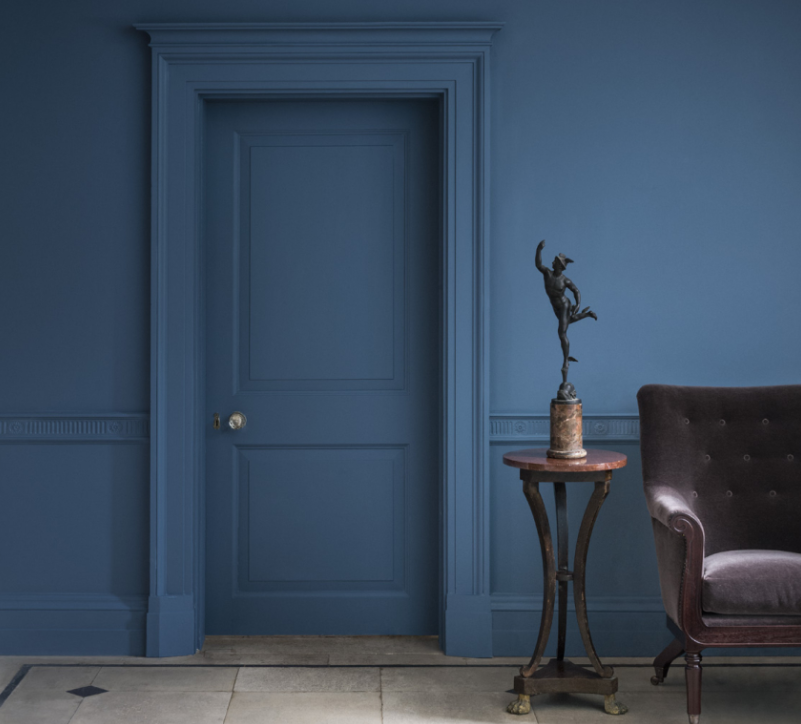 Creative ways to use paint around your home   Door painted the same colour as the wall   Seasons in Colour Interiors Blog