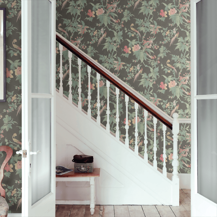 Paradise Little Greene wallpaper floral - 15 best floral wallpapers for a moody look - how to decorate your interiors with moody floral wallpaper