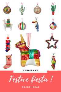 Christmas decorations for festive fiesta mexican decor, frida style