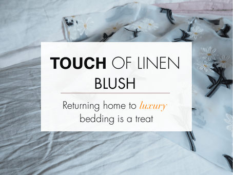 A touch of linen blush
