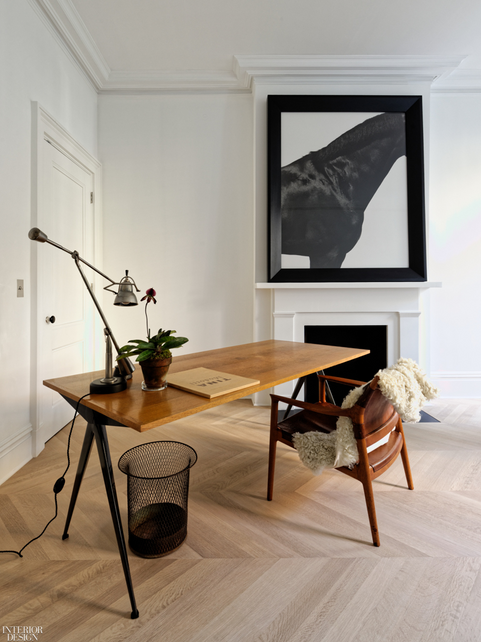 Room designer - home office with mid century vibes