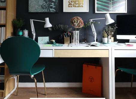 Blogger office mini makeover