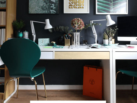 Blogger office mini makeover
