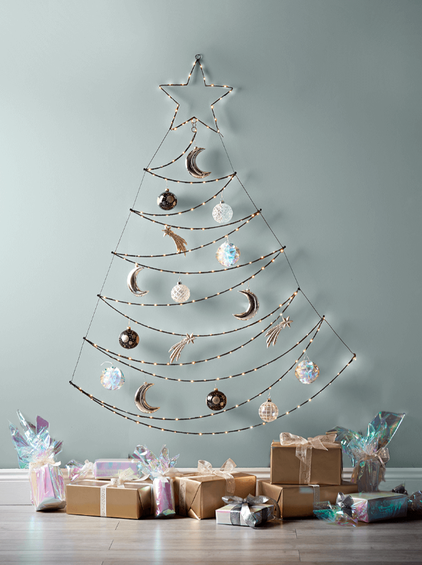 15 space saving Christmas products that are PERFECT for renters - wall hanging tree
