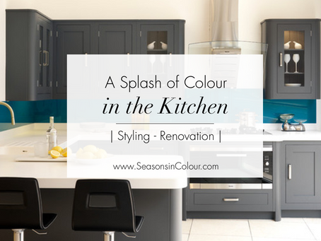 A splash of Colour in the kitchen