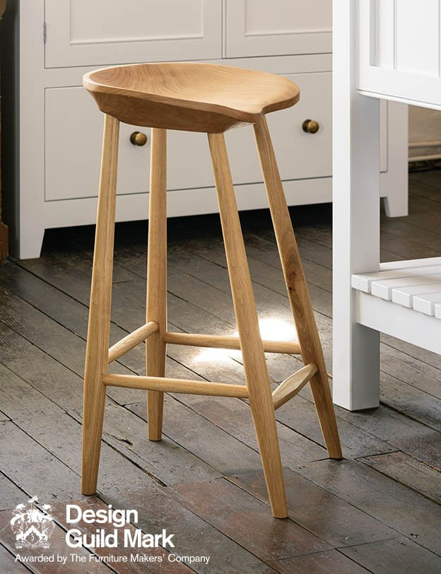 The Bum stool and a kitchen by deVOL in a cottage kitchen