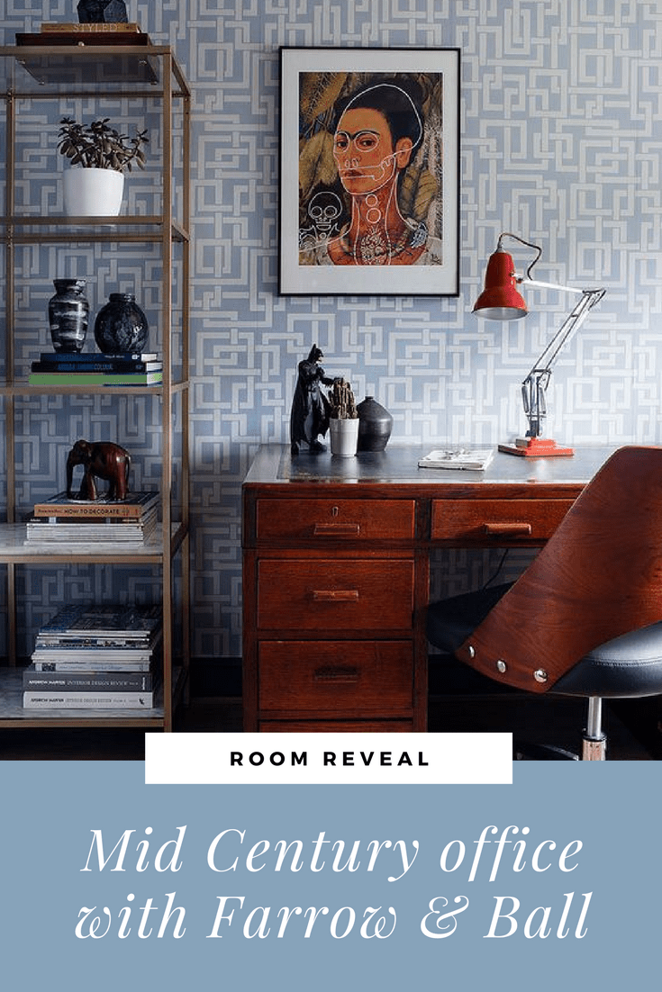 Mid century office makeover with Farrow & Ball Enigma | Seasons in ...