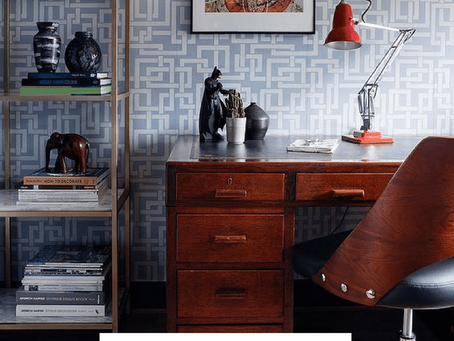 Mid Century office room reveal - Farrow & Ball Enigma Makeover