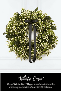 Hayford and Rhodes White Coco Christmas Wreath