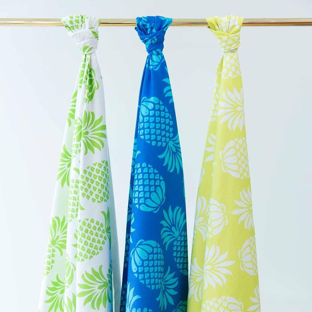 Pina Colada print, available in fabric, lampshades and tea towels!