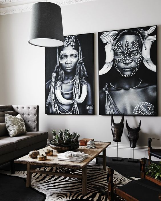 Tribal interiors living room decor