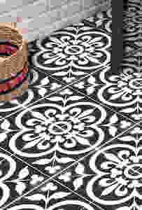 stencilled tiles floor
