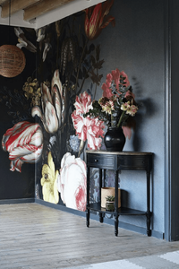 Surface View mural floral themed - 15 best floral wallpapers for a moody look - how to decorate your interiors with moody floral wallpaper