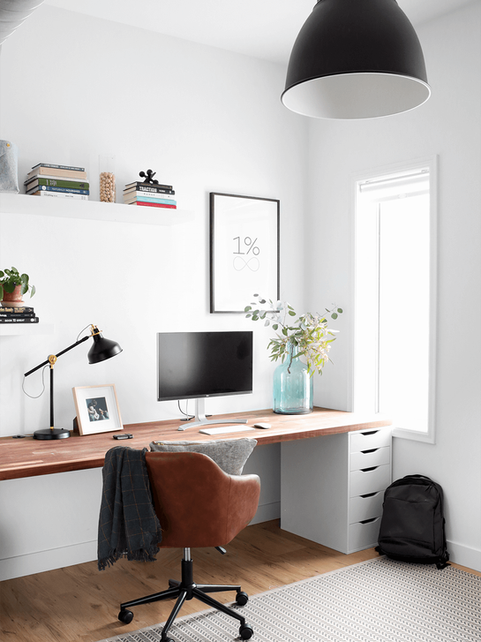 Home office for a business entrepreneur