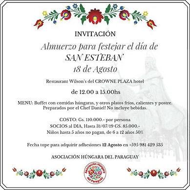 Dia de San Esteban 2019