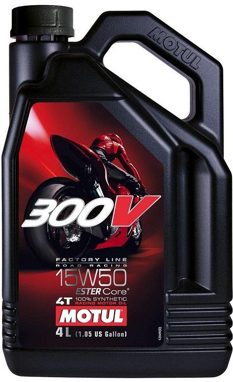 Motul 300V 15W50 Racing fully synthetic 4L
