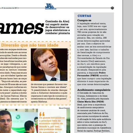 Jornal da Alerj divulga meios de desenvolver os jogos eletrônicos e combater pirataria
