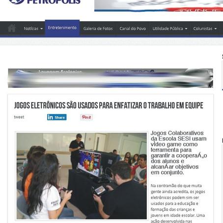 Canal de Petrópolis dá destaque para Jogos Colaborativos 2015!