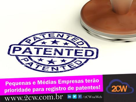 Pequenas e médias empresas terão prioridade nos registros de patentes.