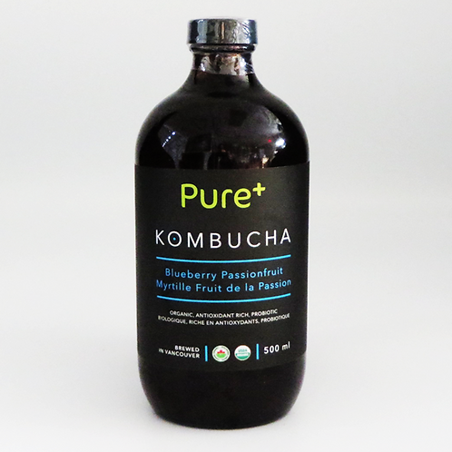 Pure+ Kombucha  - Blueberry Passionfruit 500ml