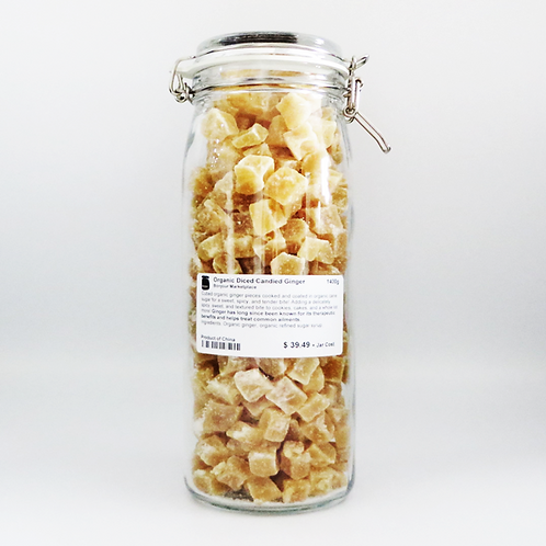 Bonjour Marketplace - Organic Diced Candied Ginger 1400g