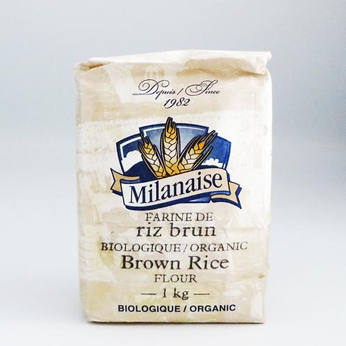 Milanaise - Organic Whole Brown Rice Flour 1kg
