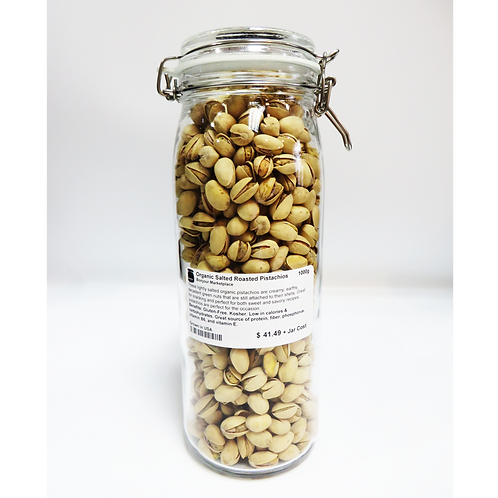 Bonjour Marketplace - Organic Salted Roasted Pistachios 1000g
