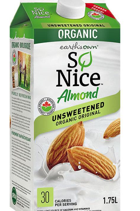 So Nice - Organic Almond Unsweetened Beverage 1.75L