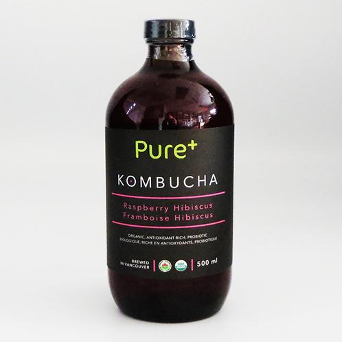 Pure+ Kombucha - Hibiscus Raspberry 500ml