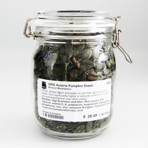 Bonjour Marketplace - Organic Austria Pumpkin Seeds 600g
