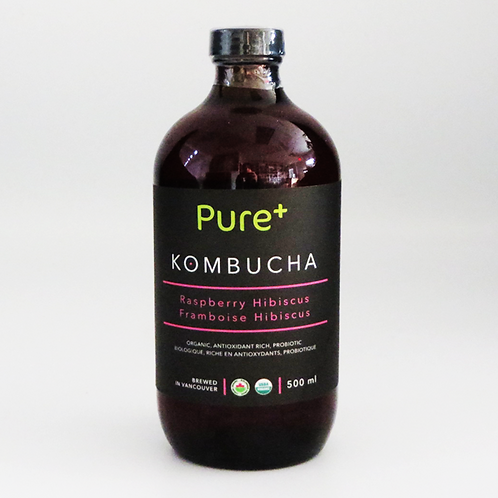 Pure+ Kombucha - Hibiscus Raspberry 500ml