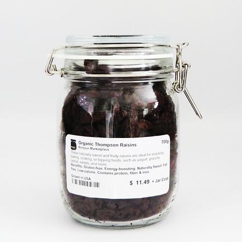 Bonjour Marketplace - Organic Thompson Raisins 700g