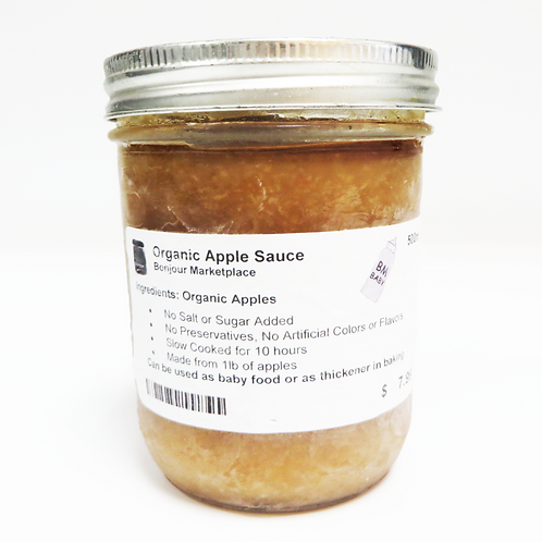 Bonjour Marketplace - Organic Apple Sauce (Baby) 500mL