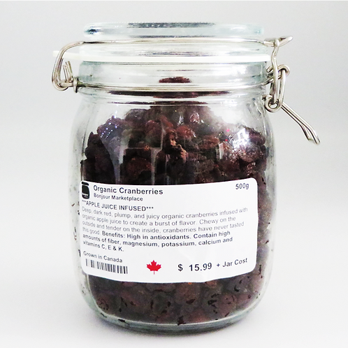 Bonjour Marketplace - Organic Cranberries (Apple Juice Infused) 500g