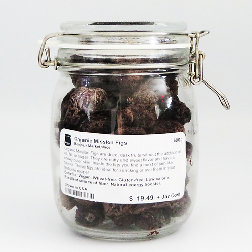 Bonjour Marketplace - Organic Mission Figs 600g