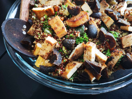 Fermented Olives and Quinoa Salad