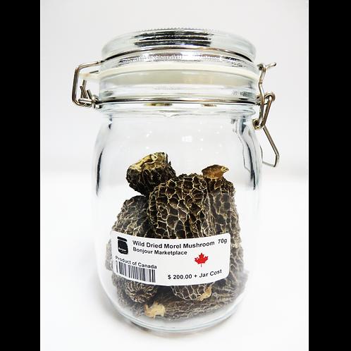 Bonjour Marketplace - Wild Grown Dried Morel Mushroom 70 g