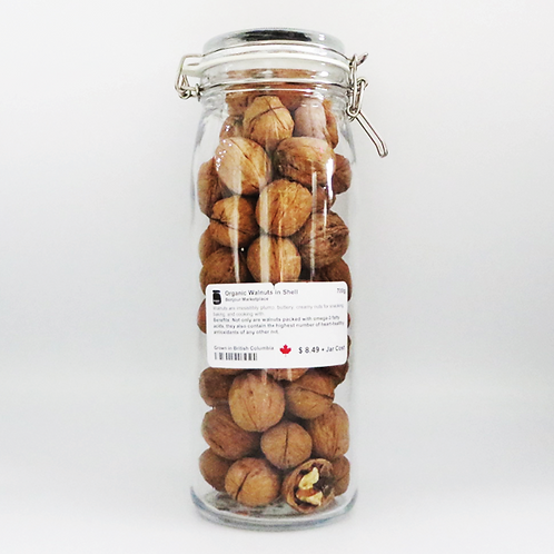 Bonjour Marketplace - Organic Walnuts in Shell 700g