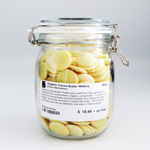 Bonjour Marketplace - Organic Cocoa Butter Wafers (Vegan) 480g