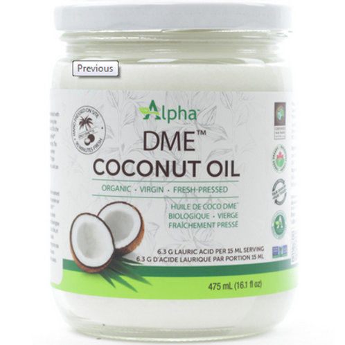 Alpha - DME Organic Coconut Oil 475mL