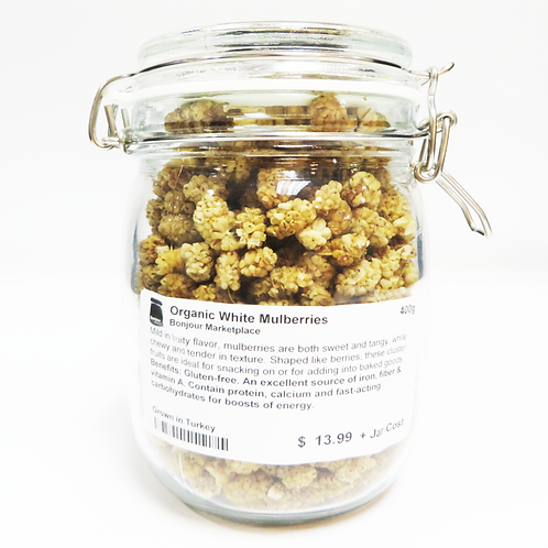 Bonjour Marketplace - Organic White Mulberries 400g