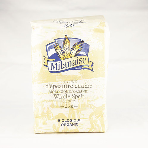 Milanaise - Organic Whole Spelt Flour 2kg