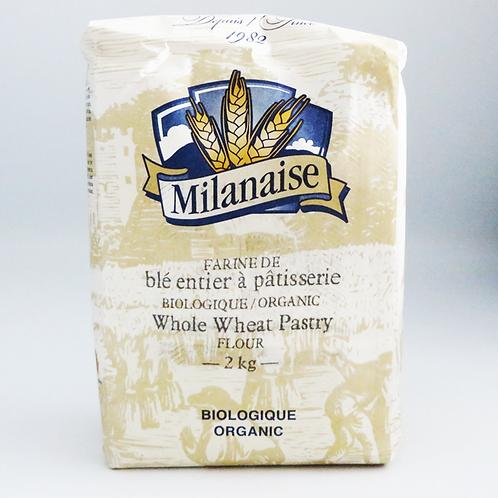 Milanaise - Organic Whole Wheat Pastry Flour 2kg