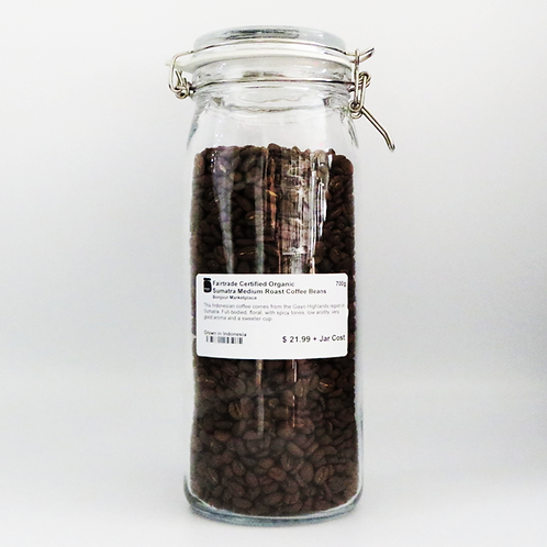 Bonjour Marketplace - Organic Medium Roast Coffee Beans 700g