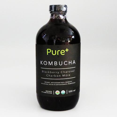 Pure+ Kombucha - Blackberry Charcoal 500ml