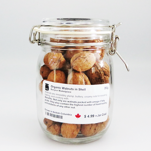 Bonjour Marketplace - Organic Walnuts in Shell 350g