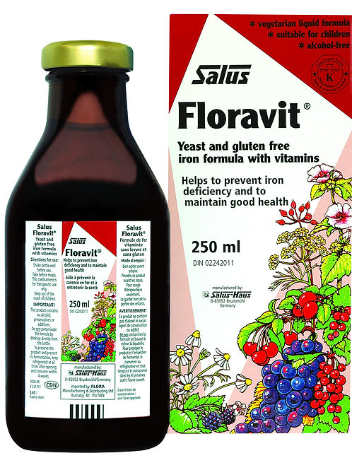 Flora - Floravit Yeast/Gluten Free Iron with Vitamins 250L