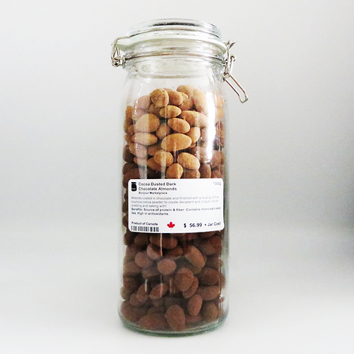 Bonjour Marketplace - Natural Cocoa Dusted Dark Chocolate Almonds 1300g